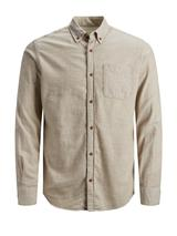 Long Sleeve Melange Shirt in Neutral