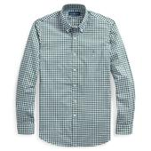 Slim Fit Check Shirt in Green