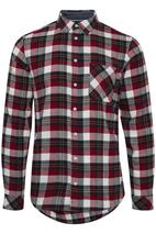 Woven Check Shirt in Red and Black