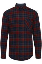 Woven Check Shirt in Red and Navy