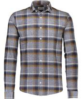 Checked Flannel Shirt in Grey