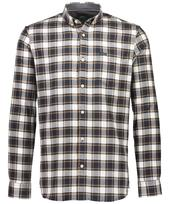 Checked Shirt in White and Navy