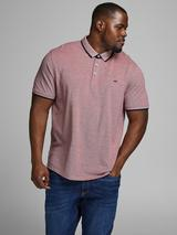 Plus Size Classic Pique Polo in Red