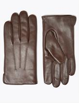 Leather Gloves with Thermowarmth™ in Brown