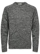 Coban Lambswool Jumper in Black and White
