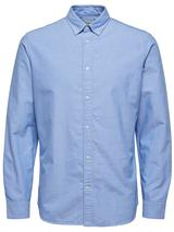 Long Sleeve Cotton Oxford Shirt in Blue