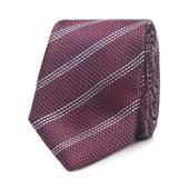 Dark Red Striped Slim Tie in Purple