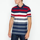 Navy Striped Polo Shirt in Multicoloured