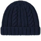 Inverallan Aran Hat in Navy