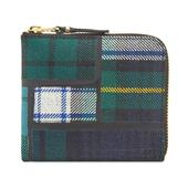 Comme des Garcons SA3100TP Tartan Patchwork Wallet in Green