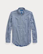 Slim Fit Checked Shirt in Blue