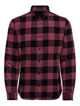 Cotton Check Shirt in Red and Black