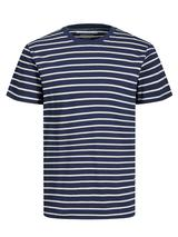 Striped T-Shirt in White and Navy