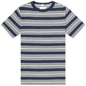 Albam Multi Striped Tee in Navy