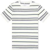 Albam Multi Striped Tee in White and Navy