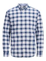Long sleeve summer shirt in White and Navy