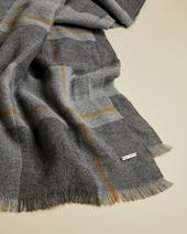 SUPRISE Checked scarf in Grey