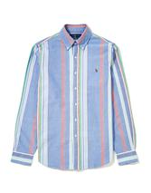 Oxford Striped Slim Fit Shirt in Blue