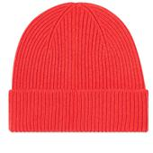 Colorful Standard Remade Wool Beanie in Red