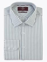 Slim Fit Easy Iron Pure Cotton Shirt in Green