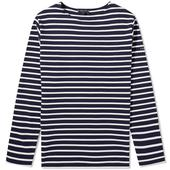 Armor-Lux 1525 Long Sleeve Loctudy Tee in White and Navy