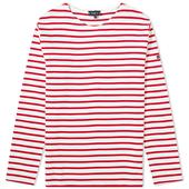 Armor-Lux 1525 Long Sleeve Loctudy Tee in Red and White