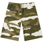 Nike Club Camo Short in Green and White