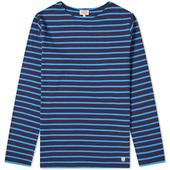 Armor-Lux Long Sleeve 73792 Mariniere Tee in Navy and Blue