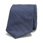 Blue Micro Dot Slim Tie in Navy