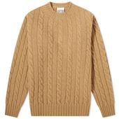 Jamieson's of Shetland Cable Crew Knit in Neutral