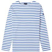 Armor-Lux 1525 Long Sleeve Loctudy Tee in White and Blue