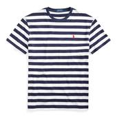 Slim Striped T-Shirt in White and Navy