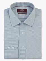 Slim Fit Easy Iron Pure Cotton Shirt in Blue