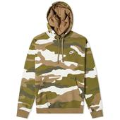 Nike Club Camo Popover Hoody in Multicoloured