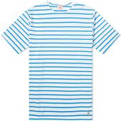 Armor-Lux 73842 Mariniere Tee in White and Blue