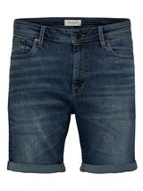 11oz Stretch Organic Cotton Denim Shorts in Blue