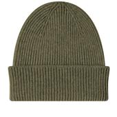 Colorful Standard Remade Wool Beanie in Green