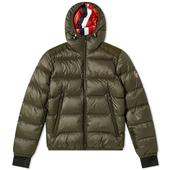 Moncler Grenoble Hintertux Hooded Down Ski Jacket in Green