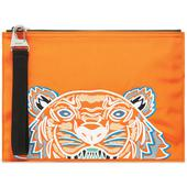 Kenzo Tiger Large Pouch in Orange