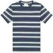 Albam Heritage Stripe Tee in White and Blue