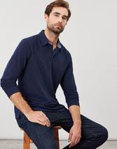 Woodwell Long Sleeve Polo Shirt in Navy