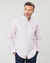 Welford Long Sleeve Classic Fit Check Shirt in Red