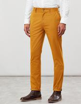 Slim Fit Chino Trousers in Yellow