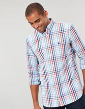 Hewney Long Sleeve Classic Fit Shirt in Red and Blue