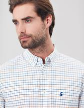 Welford Long Sleeve Classic Fit Check Shirt in White