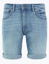Slim Fit Stretch Denim Shorts in Blue