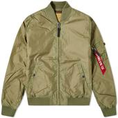 Alpha Industries MA-1 TT Jacket in Green