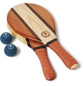 Trancoso Wooden Beach Bat and Ball Set in Orange