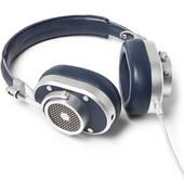 MH40 Leather Over-Ear Headphones in Navy
