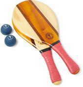 Trancoso Wooden Beach Bat and Ball Set in Red
